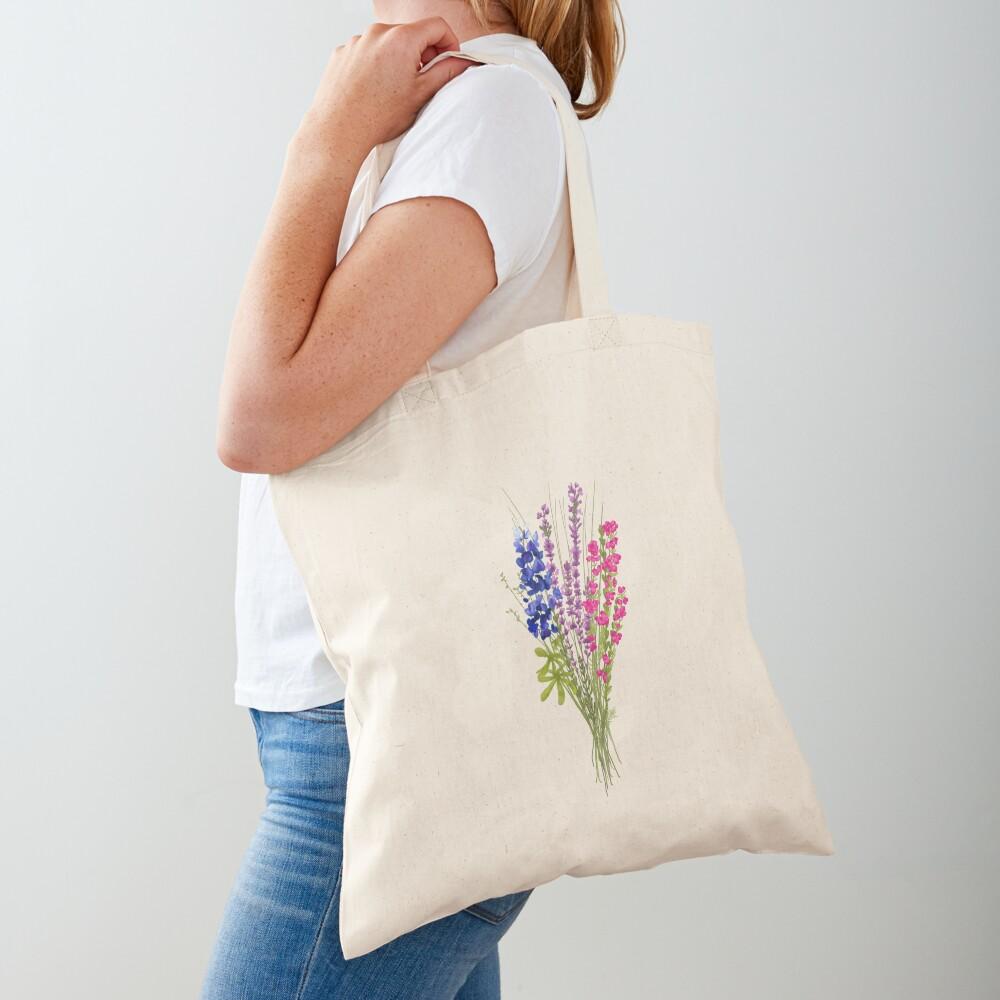 subtle bi pride flowers Tote Bag