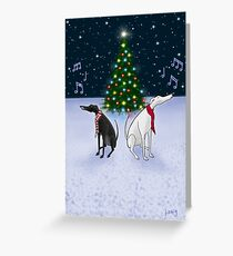 The Carol Hounds Greeting Card