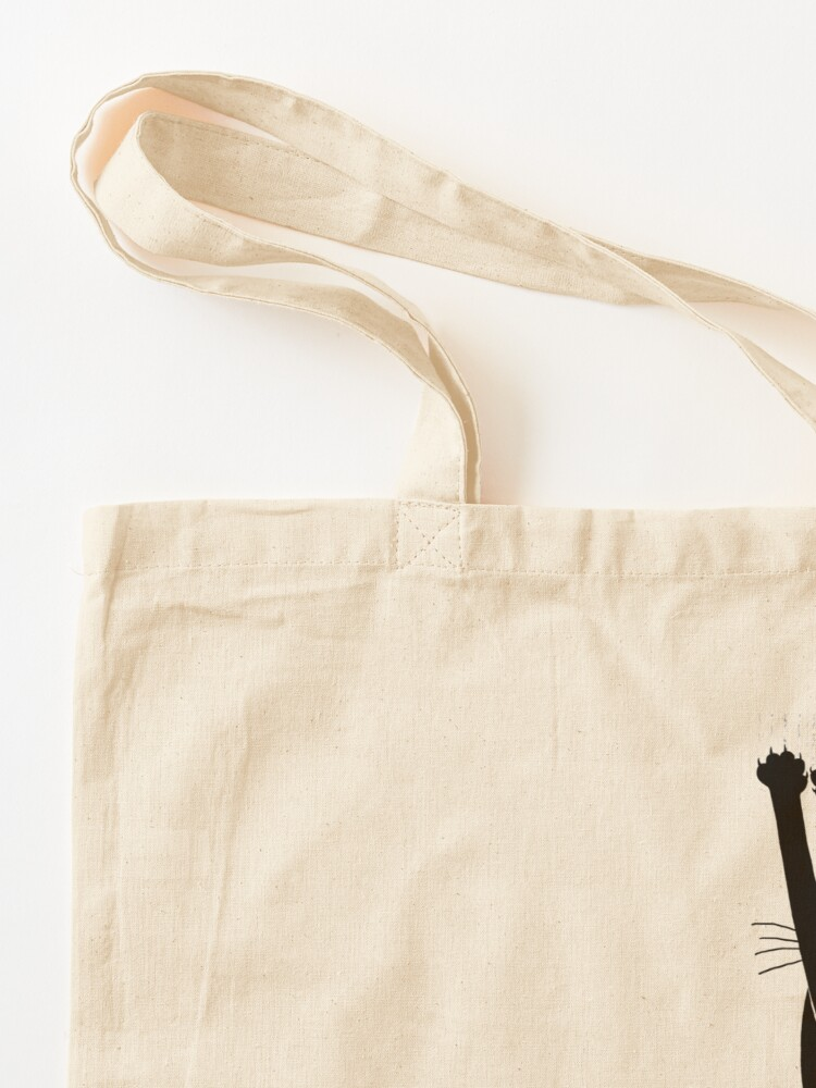 Alternate view of Black Cat Holding On Tote Bag