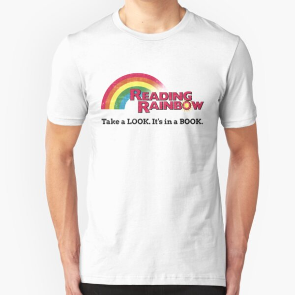 Reading Rainbow - Take A Look It's In A Book Slim Fit T-Shirt