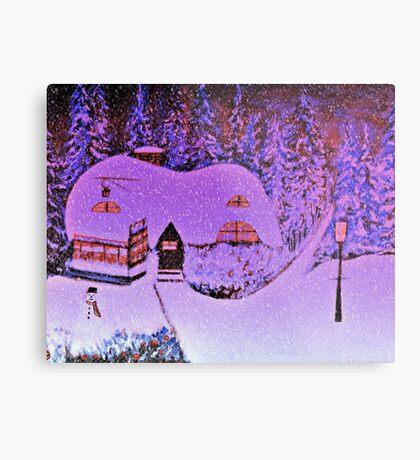 Snowy Snowy Night  Metal Print