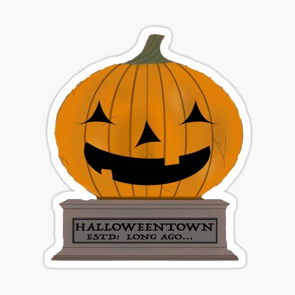 HalloweenTown Sign Sticker
