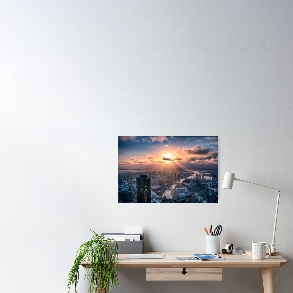 Sunset Beams Poster