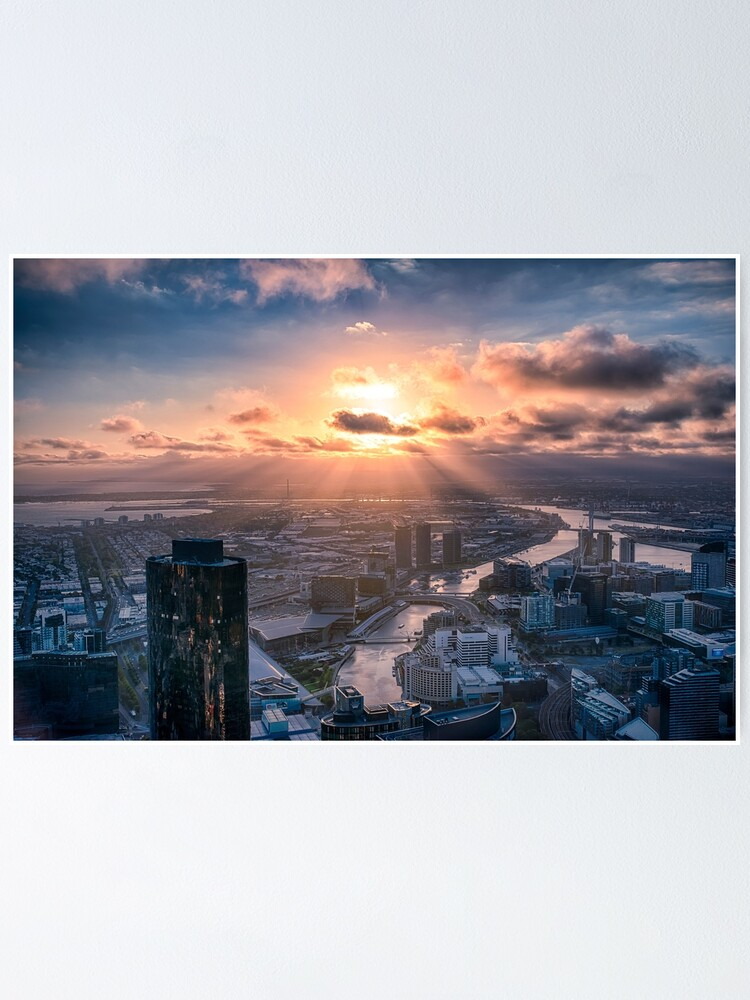 Alternate view of Sunset Beams Poster