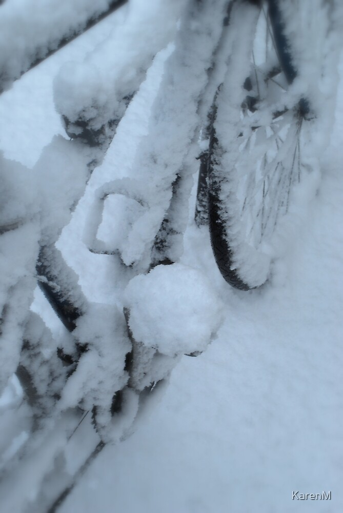 Snow Bicycle by KarenM