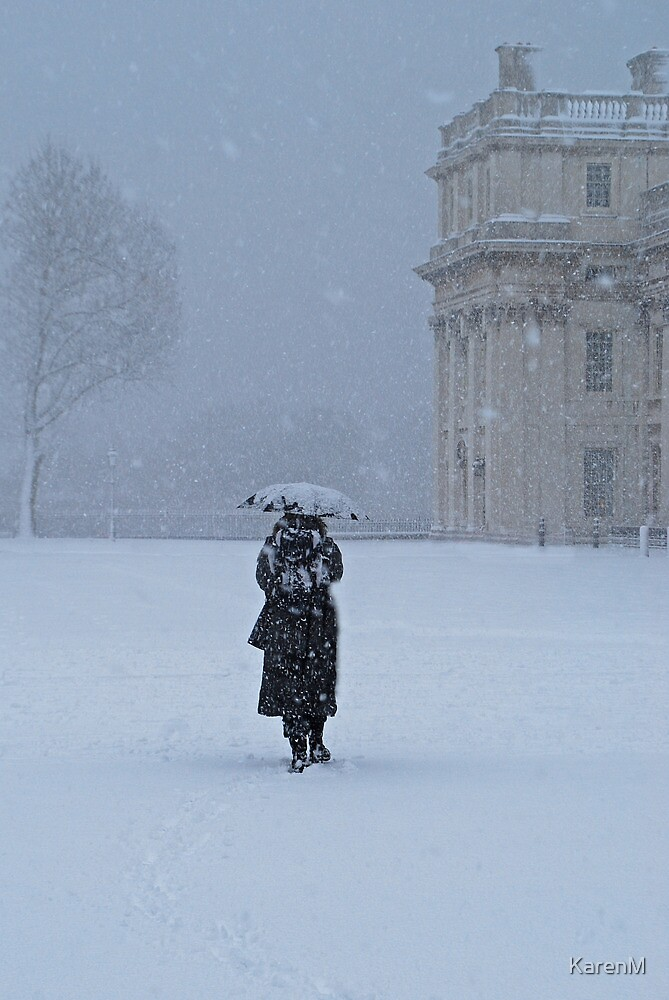Walking in the Snow by KarenM