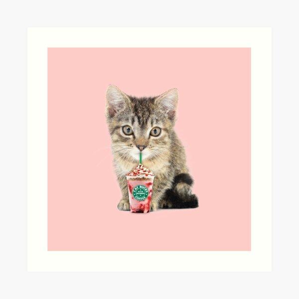 Sweet cat by Alice Monber Art Print