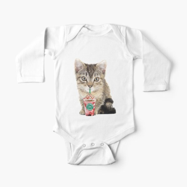 Sweet cat by Alice Monber Long Sleeve Baby One-Piece