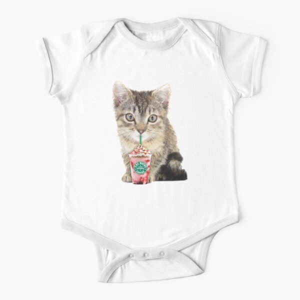 Sweet cat by Alice Monber Short Sleeve Baby One-Piece