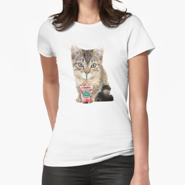 Sweet cat by Alice Monber Fitted T-Shirt
