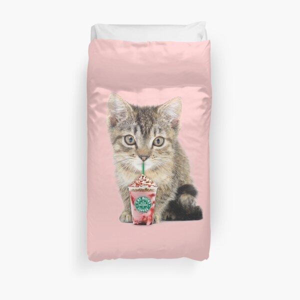 Sweet cat by Alice Monber Duvet Cover
