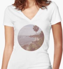 Hipster Paradise  Women's Fitted V-Neck T-Shirt