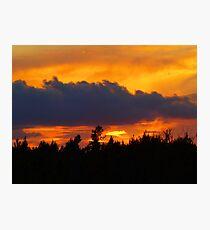 saturday sunset Photographic Print
