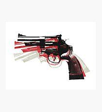 Revolver on White Photographic Print