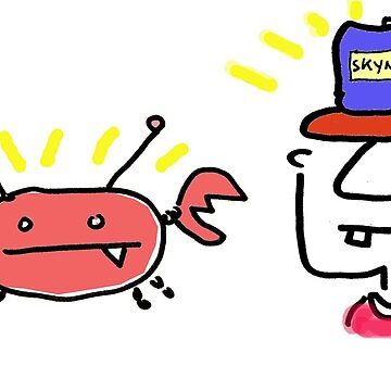Crabby and Mr. Neckerson Blank Greeting Card of Wonder by squeaktoy