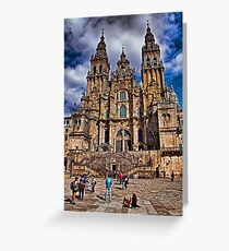 Spain. Santiago de Compostela. Catherdral in the afternoon. Greeting Card
