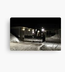 Swedish Snow Plow Canvas Print