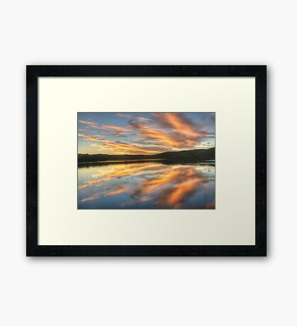 Felicitations - Narrabeen Lakes,Sydney Australia - The HDR Experience Framed Print