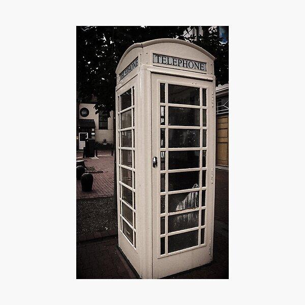 White Phone Box Photographic Print