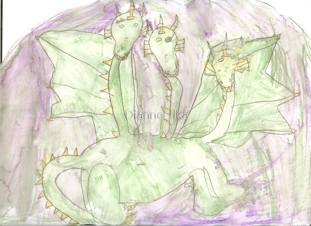 Three Times Scary (by my 7 year old) by Dianne  Ilka
