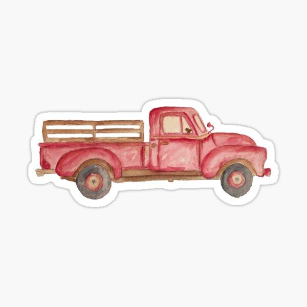 Vintage Farm Truck Sticker