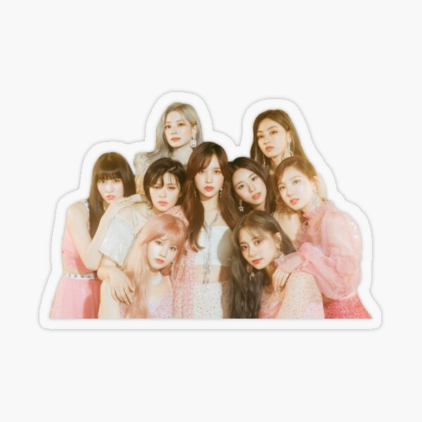 TWICE // FEEL SPECIAL GROUP (A VER) Transparent Sticker