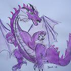 Amethyst Dragon by Dianne  Ilka