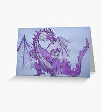 Amethyst Dragon Greeting Card