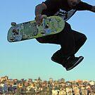 Skater - Bondi Beach Skate Park by Mick Duck