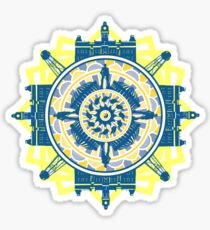 WVU Mandala Sticker