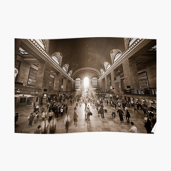 Grand Central Daylight (Sepia) Poster