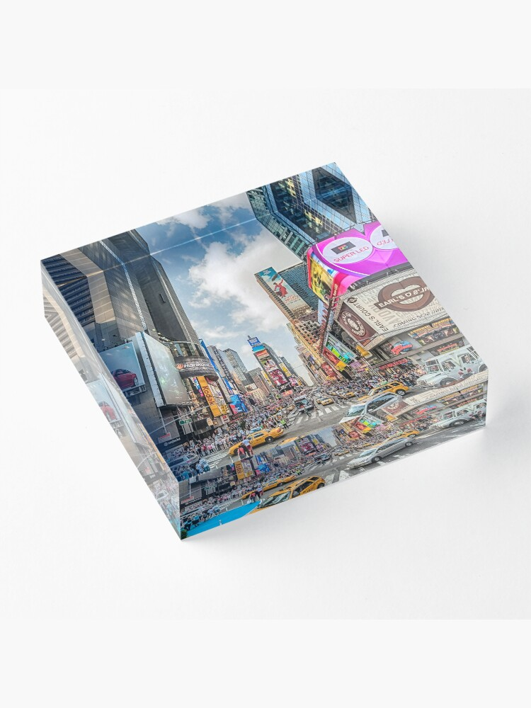 Alternate view of Times Square Traffic Acrylic Block