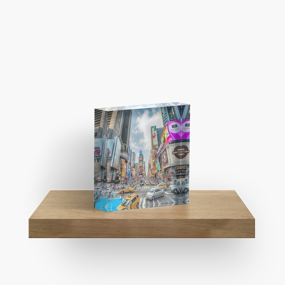 Times Square Traffic Acrylic Block