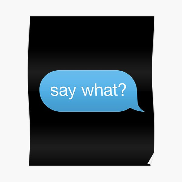 Text Message Bubble Posters Redbubble