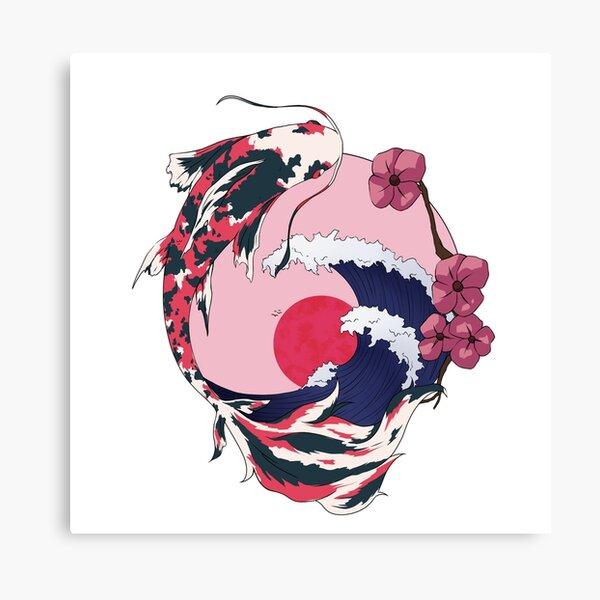 Cherryblossom Koi Canvas Print