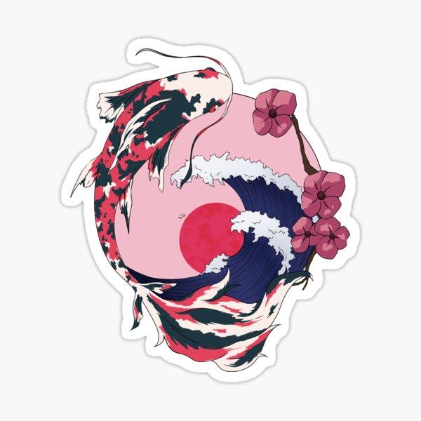 Cherryblossom Koi Pegatina