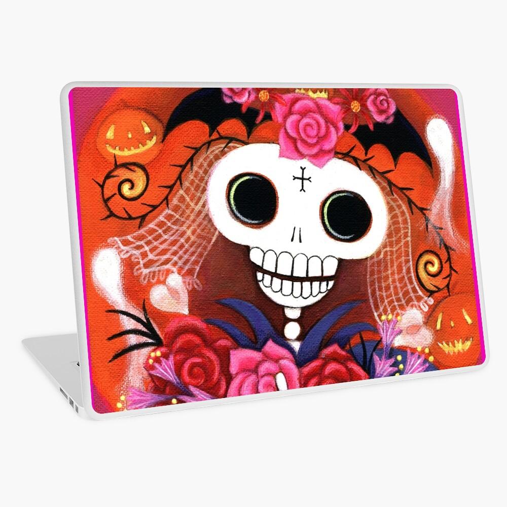 Halloween Skelly Braut Laptop Folie