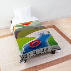 Visit Lazy River Land! Comforter