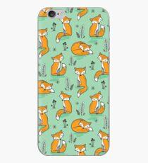Dreamy Fox in Green iPhone Case