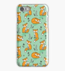 Dreamy Fox in Green iPhone Case/Skin