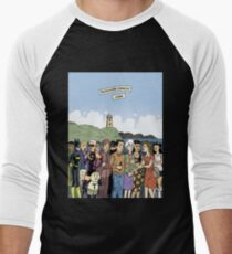 Hicksville Comics Beach Party Men's Baseball ¾ T-Shirt