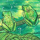 Two Green Frogs by Alexandra Felgate