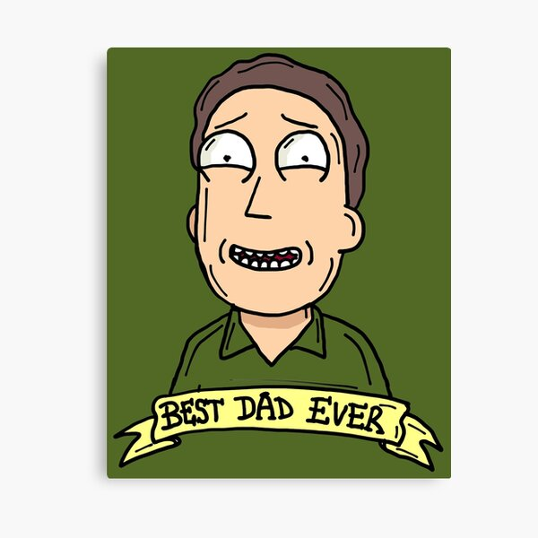 Jerry Smith from Rick and Morty™ : Best Dad Ever Canvas Print