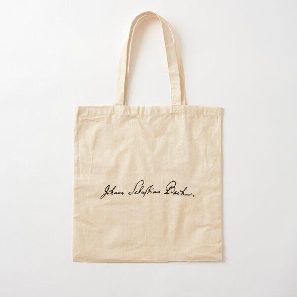 Johann Sebastian Bach signature Cotton Tote Bag