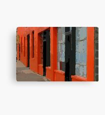 Orange Building Canvas Print