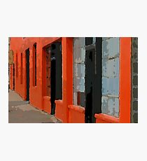 Orange Building Photographic Print