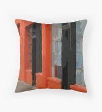 Orange Building Throw Pillow