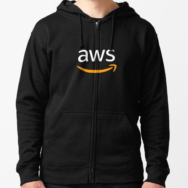 aws logo Zipped Hoodie
