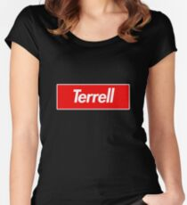Terrell Name Label - Gift For Male Named Terrell Fitted Scoop T-Shirt