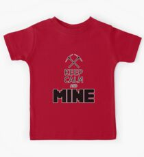 Minecraft - Keep Calm and Mine Kids Clothes